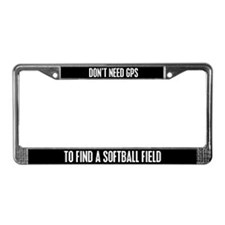 Softball License Plate Frame