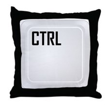 CTRL (top corner) Throw Pillow