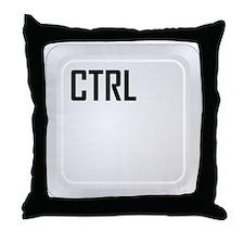 CTRL (top corner) Throw Pillow
