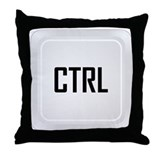 CTRL (centered) Throw Pillow