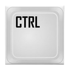 CTRL (top corner) Tile Coaster