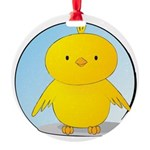 Whee! Chick v2.0 Round Ornament