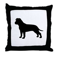 AmStaff Throw Pillow