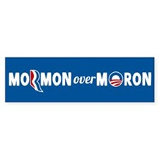 Mormon Over Moron Bumper Sticker