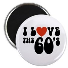 I Love the 60's Magnet