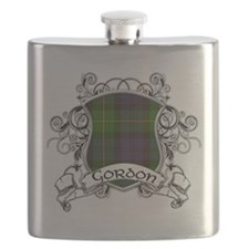 Gordon Tartan Shield Flask