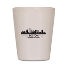 Boston Skyline Shot Glass