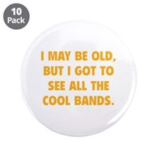 "All The Cool Bands 3.5"" Button (10 pack)"