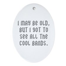 All The Cool Bands Ornament (Oval)