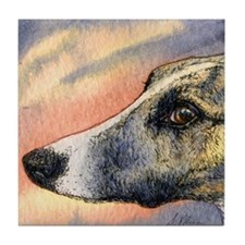 Brindle whippet greyhound dog Tile Coaster