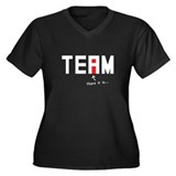 There's an I in TEAM Women's Plus Size V-Neck Dark