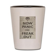 Vintage Now Panic And Freak Out Shot Glass