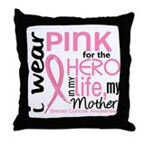 Hero In Life 2 Breast Cancer Throw Pillow