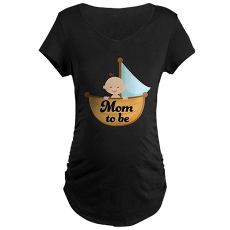Mom To Be Pregnancy Announcement Maternity Dark T-