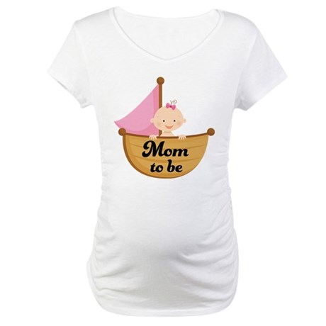 Mom to Be of Baby Girl Maternity T-Shirt