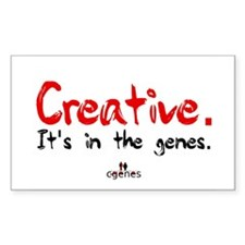 Creative In The Genes Rectangle Decal