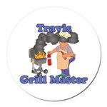 Grill Master Travis Round Car Magnet