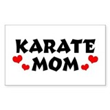 Karate Mom Rectangle Decal