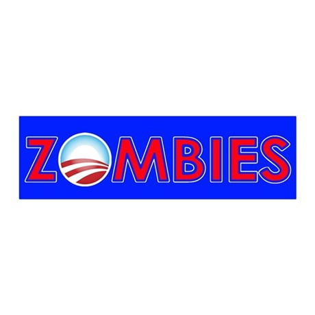 Obama Zombies 20x6 Wall Decal