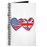 American Flag/Union Jack Hear Journal