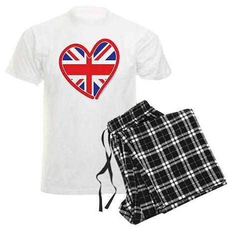 United Kingdom Union Jack Hea Men's Light Pajamas