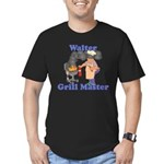 Grill Master Walter Men's Fitted T-Shirt (dark)
