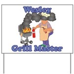 Grill Master Wesley Yard Sign