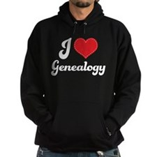 I Love Heart Genealogy Hoodie