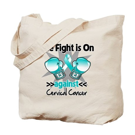 Fight On Cervical Cancer Tote Bag