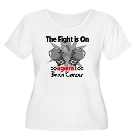 The Fight is on Brain Cancer Women's Plus Size Sco