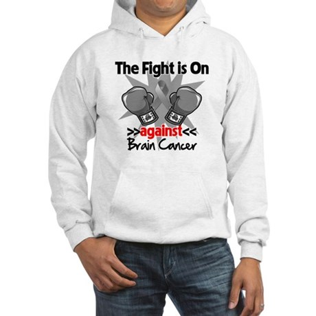 The Fight is on Brain Cancer Hooded Sweatshirt
