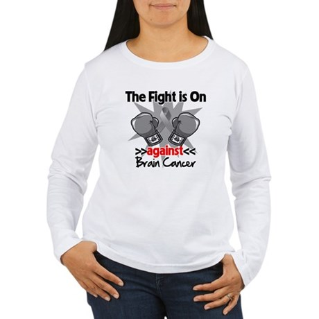 The Fight is on Brain Cancer Women's Long Sleeve T