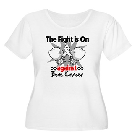 The Fight is On Bone Cancer Women's Plus Size Scoo