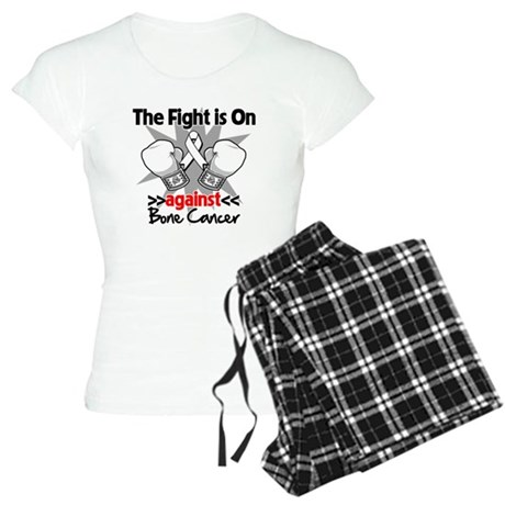 The Fight is On Bone Cancer Women's Light Pajamas