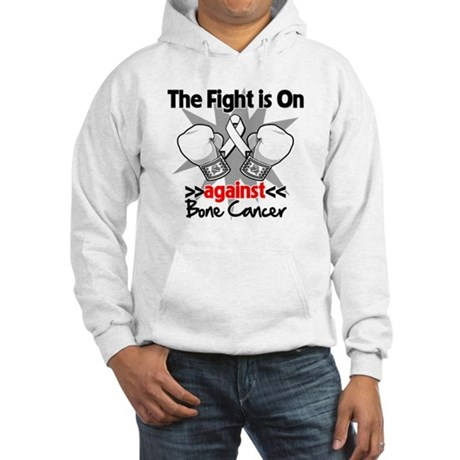 The Fight is On Bone Cancer Hooded Sweatshirt