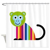 Happy Monkey Shower Curtain