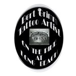 Bert Grimm Tattoo Artist Ornament (Oval)