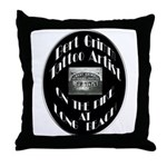 Bert Grimm Tattoo Artist Throw Pillow
