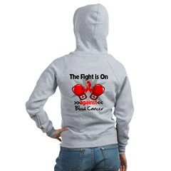 The Fight is On Blood Cancer Women's Zip Hoodie