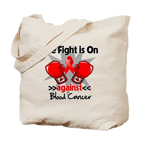 The Fight is On Blood Cancer Tote Bag