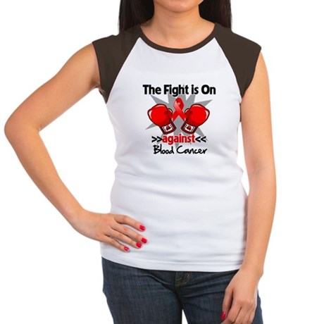 The Fight is On Blood Cancer Women's Cap Sleeve T-