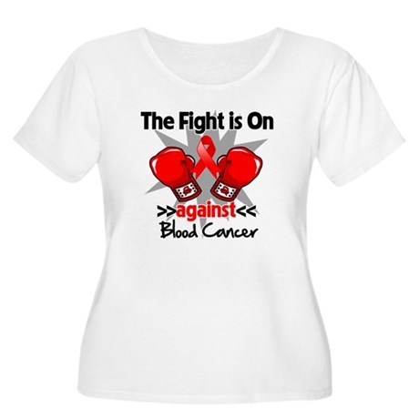 The Fight is On Blood Cancer Women's Plus Size Sco