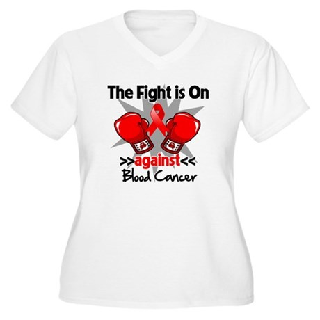 The Fight is On Blood Cancer Women's Plus Size V-N