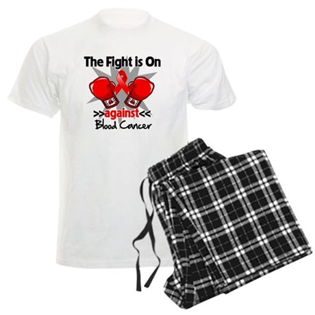 The Fight is On Blood Cancer Men's Light Pajamas