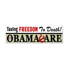 """Taxing Freedom To Death!"" Car Magnet"