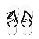 Bride - Black Text Flip Flops