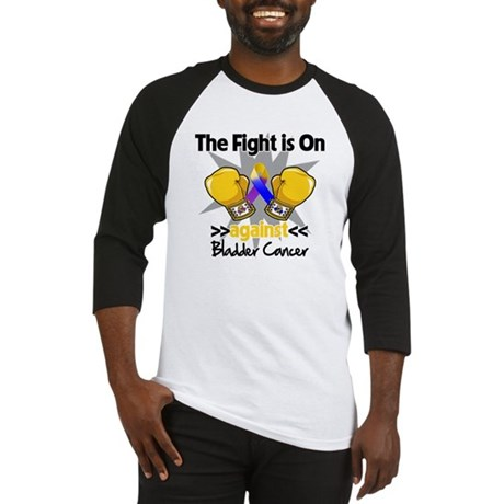 Fight is On Bladder Cancer Baseball Jersey