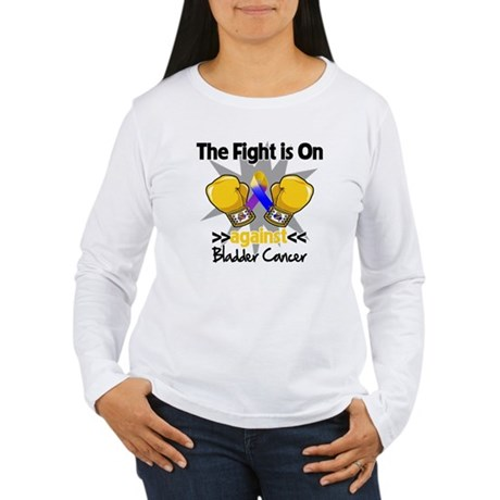 Fight is On Bladder Cancer Women's Long Sleeve T-S