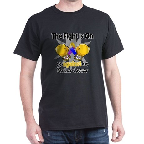 Fight is On Bladder Cancer Dark T-Shirt