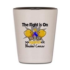 Fight is On Bladder Cancer Shot Glass